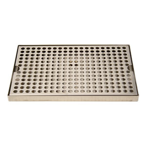 "Surface Mount Drip Tray, 12"" x 8"", Stainless"