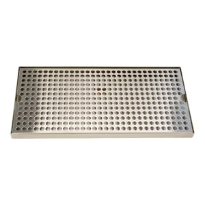 "Surface Mount Drip Tray, 16"" x 8"", Stainless"