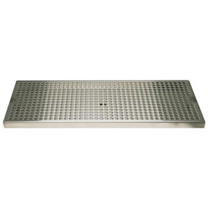 "Surface Mount Drip Tray, 18"" x 8"", Stainless"