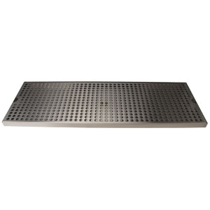 "Surface Mount Drip Tray, 24"" x 8"", Stainless Steel"