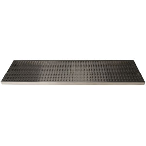 "Surface Mount Drip Tray, 30"" x 8"", Stainless Steel"