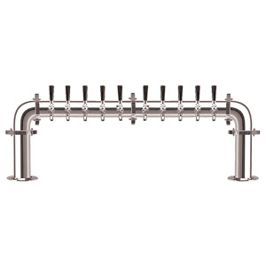 Brauhaus U - 10 Faucets - Chrome Finish - Glycol Cooled