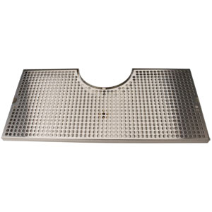 "24"" Cut-Out Surface Mount Drain Tray, 7 1/2"" Column"