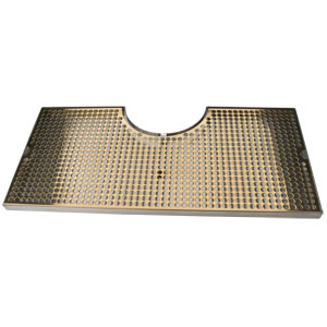 "24"" SS/PVD Brass Cut-Out Surface Mount, 7 1/2"" Column"
