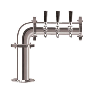 Brauhaus L - 3 Faucets - Chrome Finish - Glycol Cooled