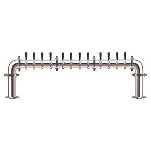 Brauhaus U - 12 Faucets - Chrome Finish - Glycol Cooled