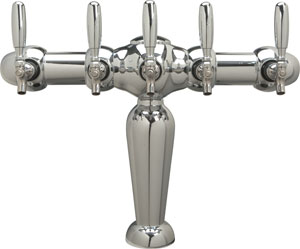 Brigitte - Chrome Finish - Glycol Cooled - 5 Faucets