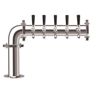 Brauhaus L - 5 Faucets - Chrome Finish - Glycol Cooled