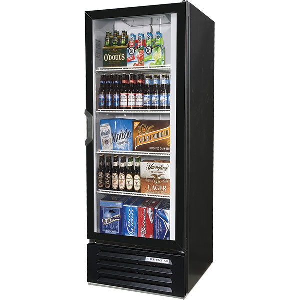 glass door merchandiser refrigerator model lv12 1 b