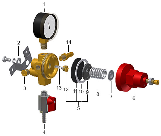pass thru 1 pressure co2 secondary economy series rh micromatic com Regulator Assembly Diagram co2 gas regulator diagram