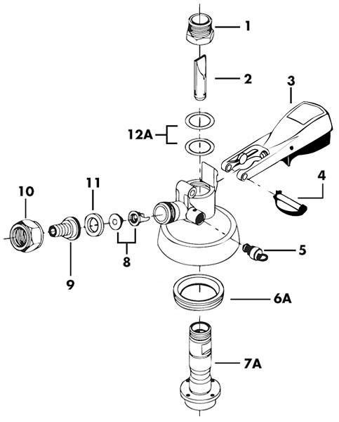 28 Keg Tap Parts Diagram