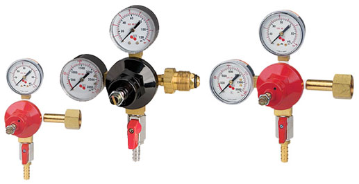 Beer Gas Regulators CO2 and Nitrogen