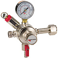Easily convert any primary CO2 regulator into a dual product primary regulator!