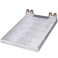 "Draft Beer Jockey Box Cold Plate - 10"" x 15"" - 2 Product - Includes Compression Gaskets"