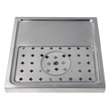 Stainless Steel Rinser Drain Tray, 1-2 Faucets - DP-1604: Professional quality stainless steel draft beer drain tray with built-in glass rinser