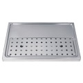 Stainless Steel  Drip Tray, 2-4 Faucets - DP-1605-NR. European style stainless steel beer drip tray