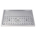 Stainless Steel Rinser Drain Tray, 2-4 Faucets - DP-1605: pour beer in style, use this stainless steel glass rinser beer drain tray