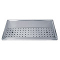 Stainless Steel Drip Tray, 3-5 Faucets - DP-1606-NR: European style stainless steel beer drip tray