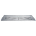 "51"" Stainless Steel Glass Rinser Drain Tray, 8-12 Faucets - DP-1610: Integrated bar design - draft tower combined with a built in glass rinser in a stainless steel platform tray."