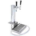 "3"" Clamp-On Tower - Chrome ABS Plastic - 2 Faucets - DS532CL: 12-1/4"" H clamp on beer tower with stainless steel drain, dual faucet"
