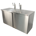 Kegerator - Commercial Grade Unit, Fits up to three 1/2 Barrel (Full Size) Kegs, Stainless steel front and sides!