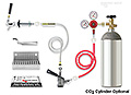 Kegerator Door Conversion Kit - Includes a Double Gauge CO2 Gas Regulator, and removable Stainless Steel Drip Tray.