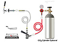 Kegerator Door Conversion Kit - Includes a Single Gauge CO2 Gas Regulator, Keg Coupler, Faucet & Door Shank, and hoses.