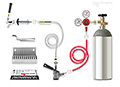 Standard - Door Kegerator Conversion Kit - RCK-S: Information on setting up a home kegerator with a kegerator conversion kit. Includes CO2 cylinder and quality dual gauge regulator