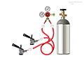 Dual Keg Kegerator Tapping Kit - TK-2: Tap 2 kegs at once! Kit includes CO2 tank, dual gauge CO2 regulator, two vinyl gas hoses, two 'D' system keg couplers