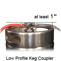 Low profile keg coupler